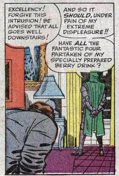 Even specially prepared berry drinks are used as tools of evil in Doom's hands.