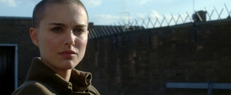 "Evey in ""V for Vendetta."""