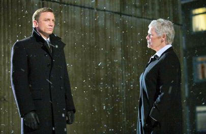 The snow was actually created by Judi Dench's own body.