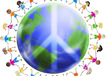 When the multi-colored smile giants clasp hands at earth's orbit, peace will be achieved. So sayeth the prophecy.