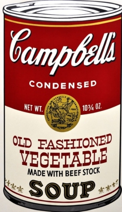 How's that thing go again? About labels and soup cans? Ah, forget it.