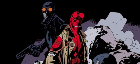 That's Hellboy with Lobster Johnson, there. Don't forget the name.