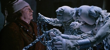 Michael Caine's Scrooge had it the worst seeing as how these are dead puppets.