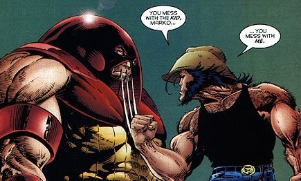 Go on, Juggernaut! Flick him away like you're flicking a booger!
