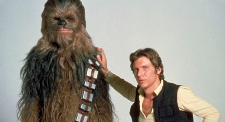 I bet Chewie hates when Han just uses him like a wall.